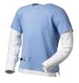 Футболка чол. з довг. рукавом Mix р-р XL к-р блакитний