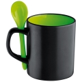 MCollection 8740409 Кружка з ложкою, зелений