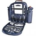 Рюкзак для пікніку для 4-х осіб, к-р синій